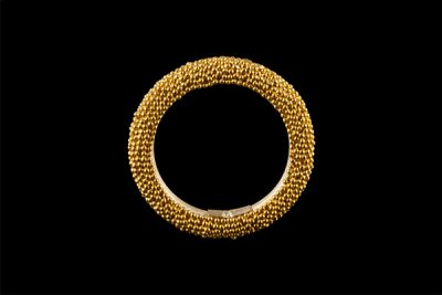 Dots band 1: gold plated silver ring