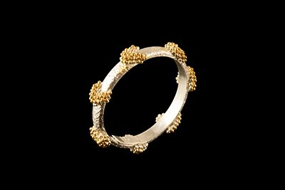 River Band 1: Gold plated silver ring