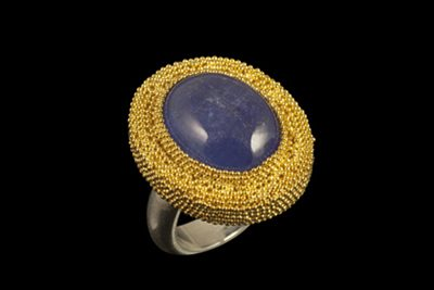Blue Lake: Gold plated silver with tanzanite
