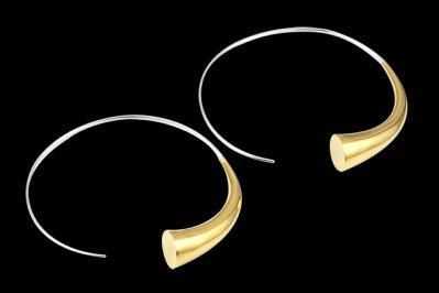 Expansion 3: Gold plated silver earrings