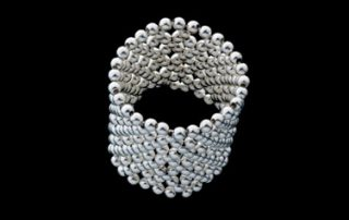 Net 6: Round silver beads ring